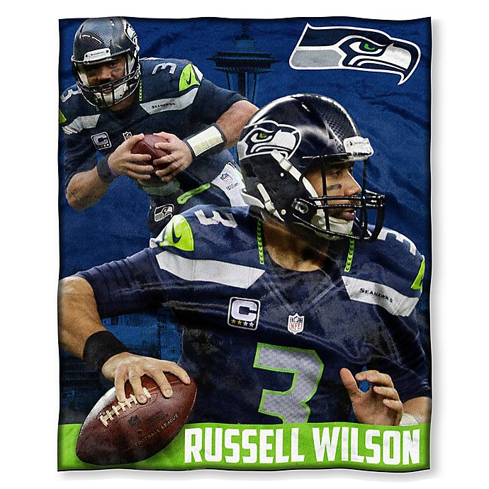 2cd7d4ec1974 NFL Seattle Seahawks Russell Wilson Silk Touch Throw Blanket | Bed ...
