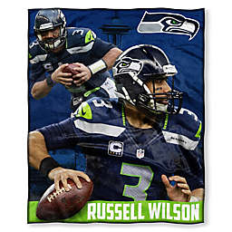 NFL Seattle Seahawks Russell Wilson Silk Touch Throw Blanket