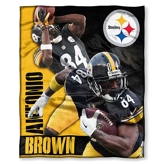 8f5e2fa60 NFL Pittsburgh Steelers Antonio Brown Silk Touch Throw Blanket