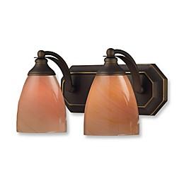 ELK Lighting 2-Light Vanity in Aged Bronze