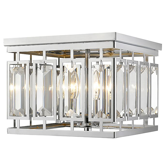 Alternate image 1 for Filament Design Monarch 4-Light Flush-Mount Ceiling Light in Chrome
