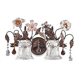 ELK Lighting Cristallo Fiore 2-Light Vanity In Deep Rust And Hand Blown Florets