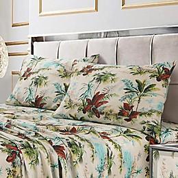 Tribeca Living Paradise Island 300-Thread-Count Deep Pocket Twin XL Sheet Set
