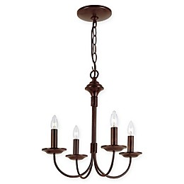 Bel Air Colonial 4-Light 14.5-Inch Chandelier in Oil Rubbed Bronze