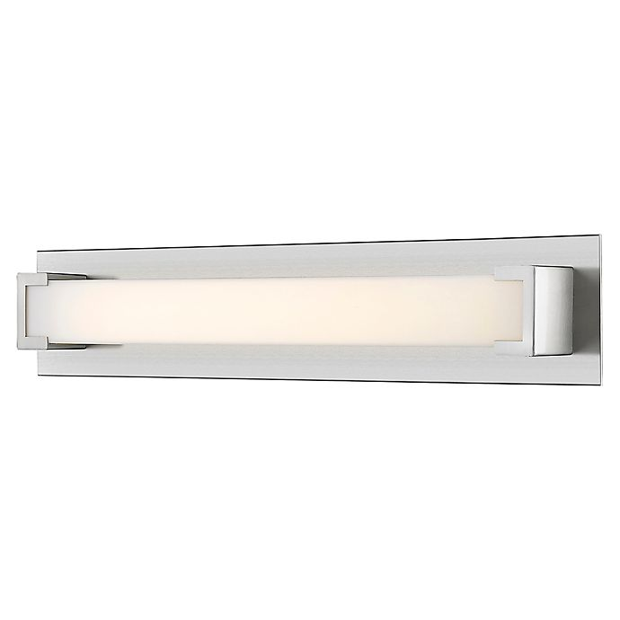 Alternate image 1 for Filament Design Geometric 1-Light LED 27.7-Inch Vanity Light in Brushed Nickel