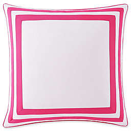 Christian Siriano Bold Floral European Sham in White and Coral