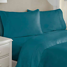 Pointehaven Long Staple 620-Thread-Count King Pillowcases in Teal (Set of 2)