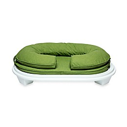 Katherine Elizabeth Cody Bolster Pet Bed with White Ottoman