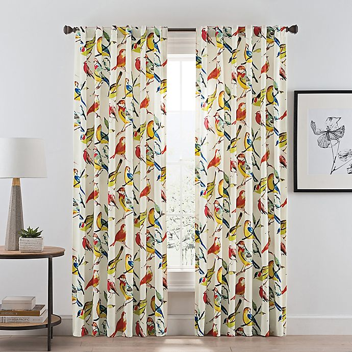 Alternate image 1 for Birdwatcher 63-Inch Rod Pocket/Back Tab Window Curtain Panel in Summer