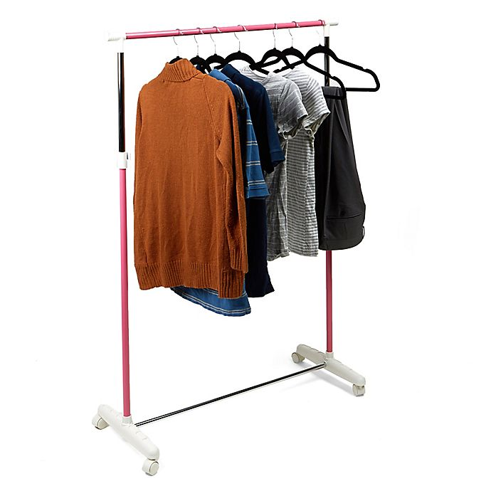 Alternate image 1 for Mind Reader Rolling Garment Rack