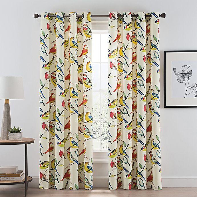 Alternate image 1 for Birdwatcher 84-Inch Grommet Window Curtain Panel in Summer