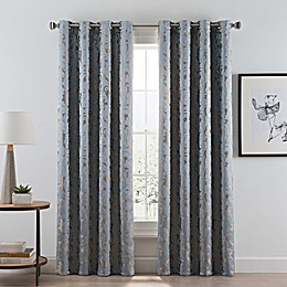Acanthus Grommet Room Darkening Window Curtain Panel