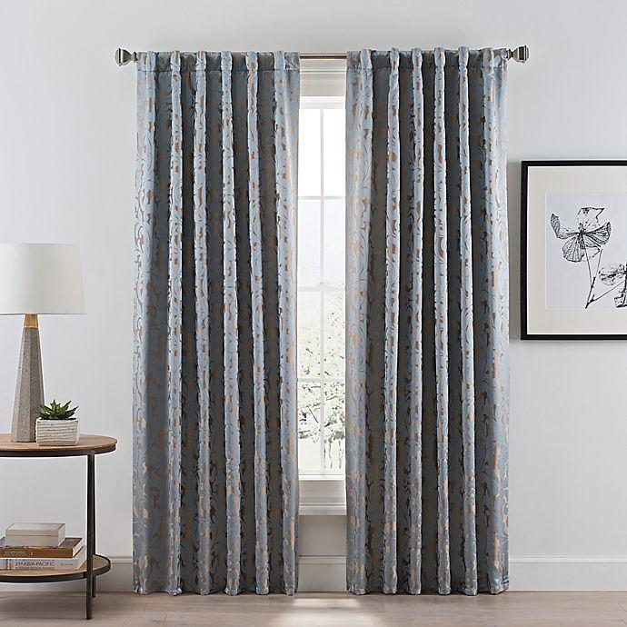 Alternate image 1 for Acanthus Rod Pocket/Back Tab Room Darkening Window Curtain Panel (Single)
