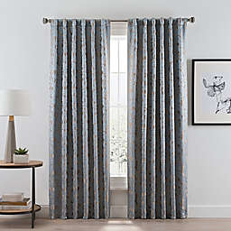 Acanthus Rod Pocket/Back Tab Room Darkening Window Curtain Panel (Single)