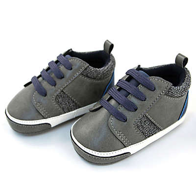Rising Star Faux Suede Textured Sneaker in Grey/Navy