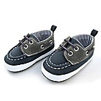 Rising Star™ Size 3-6M Boat Shoe in Navy/Grey