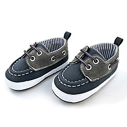 Rising Star™ Boat Shoe in Navy/Grey