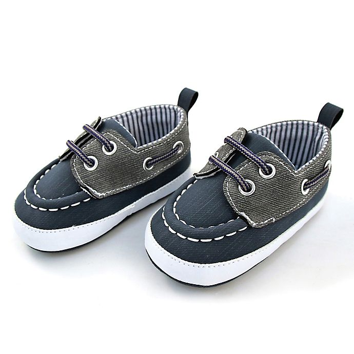 Alternate image 1 for Rising Star™ Boat Shoe in Navy/Grey