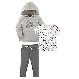Yoga Sprout 3-Piece Woods Hoodie, Shirt, and Pant Set in Grey