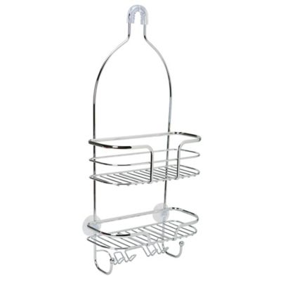 dual suction chrome caddy bed bath beyond 61 Cadillac DeVille bath bliss 2 tier holland oval wire shower caddy in chrome