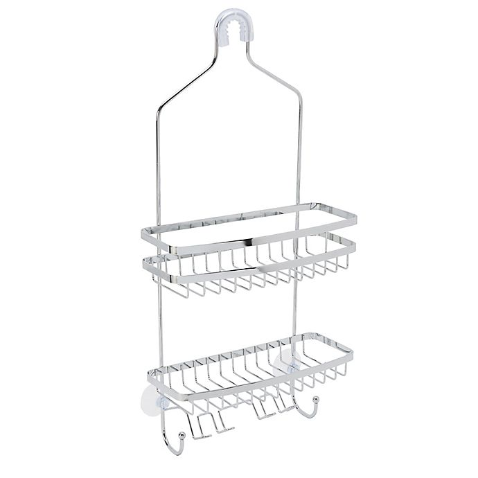 Bath Bliss 2 Tier Venice Flat Wire Shower Caddy In Chrome