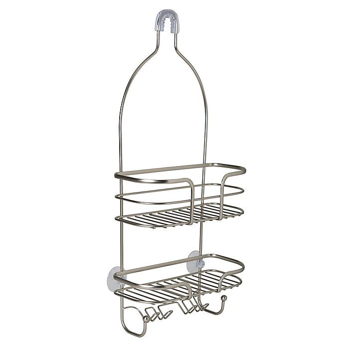 Alternate image 1 for Bath Bliss 2-Tier Holland Oval Wire Shower Caddy in Satin