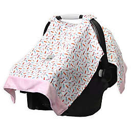 Itzy Ritzy® Cozy Happens Infant Car Seat Muslin Canopy in Floating Feathers