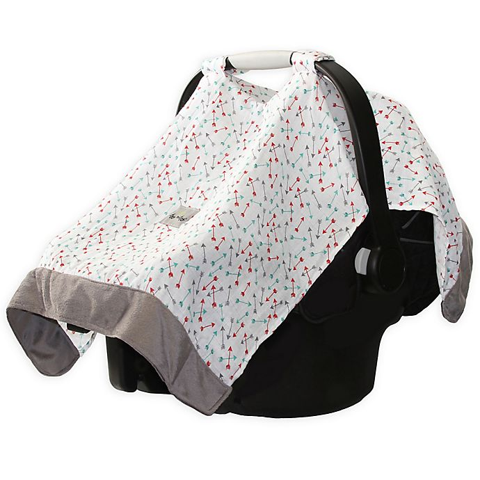 Alternate image 1 for Itzy Ritzy® Cozy Happens Infant Car Seat Muslin Canopy in Flying Arrows