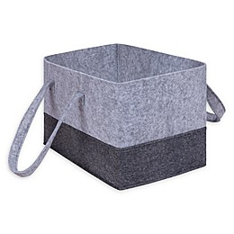 Sammy & Lou Felt Essential Storage Tote in Light Grey/Dark Grey