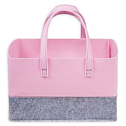 Sammy & Lou Felt Storage Tote in Pink/Grey
