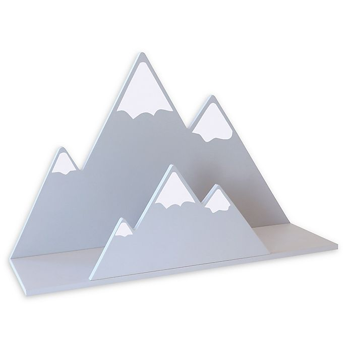 Alternate image 1 for Trend Lab® Mountain Wall Shelf in Grey