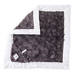 Zalamoon Plush Luxie Pocket Monogram Blanket with Pocket Holder in Charcoal