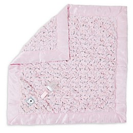 Zalamoon Plush Luxie Pocket Monogram Blanket with Pocket Holder in Blush