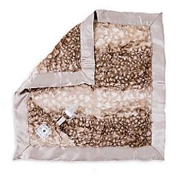 Zalamoon Plush Luxie Pocket Monogram Blanket with Pocket Holder in Fawn