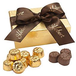 Hebert Candies® 18-Piece Gold Swirl Chocolate Truffle Gift Box