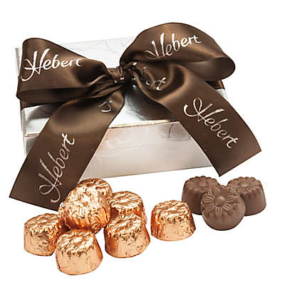 Hebert Candies® 18-Piece Silver Swirl Chocolate Caramel Truffle Gift Box
