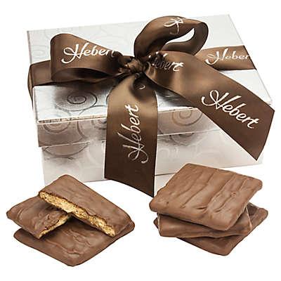 Hebert Candies® 12-Piece Silver Swirl Chocolate-Covered Graham Crackers Gift Box