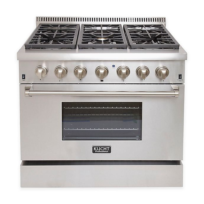Alternate image 1 for Kucht Professional 36-Inch Dual-Fuel Gas Range in Stainless Steel
