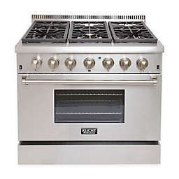 Kucht Professional 36-Inch Dual-Fuel Propane Gas Range in Stainless Steel