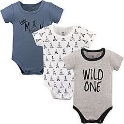 Yoga Sprout 3-Pack Wild One Bodysuits in Black