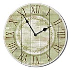 Highland Woodcrafters Pallet 23.5-Inch Wall Clock in Green