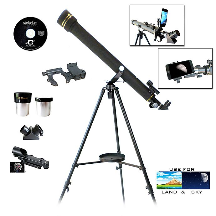 Alternate image 1 for Galileo G-860BG Refractor Telescope and G-SPA Smartphone Adapter Kit in Black