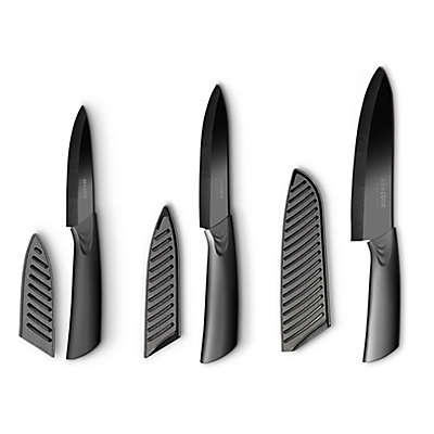 Art and Cook™ 6-Piece Ceramic Knife Set in Black
