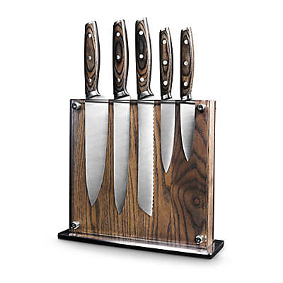 Art and Cook™ Elite 6-Piece Magnetic Knife Block Set