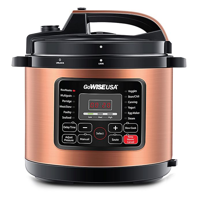 Alternate image 1 for GoWISE USA® Copper 6qt. 12-in-1 Electric Pressure Cooker