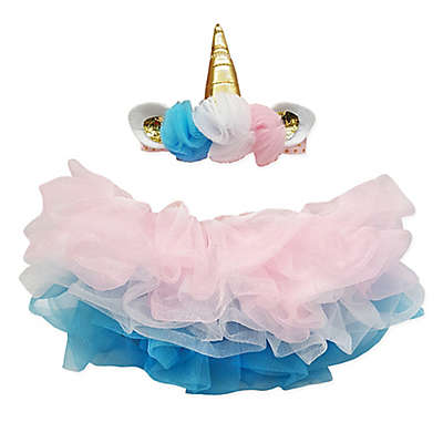 Elly & Emmy 2-Piece Unicorn Headband and Tutu Set
