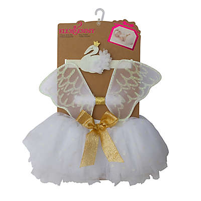 Elly & Emmy 3-Piece Swan Headband, Wings, and Tutu Set