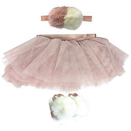 Toby Signature™ 3-Piece Headband, Tutu and Foot Wrap Set in Pink