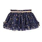 Baby Starters® Size 3M Gold Stars Tutu Skirt in Navy