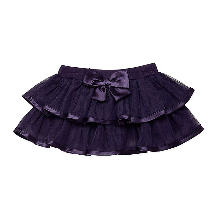 Alternate image 1 for Baby Starters® 2 Tier Bow Tutu in Purple